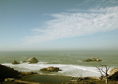 Wind Photograph - Sutro Baths San Francisco by Linda Woods