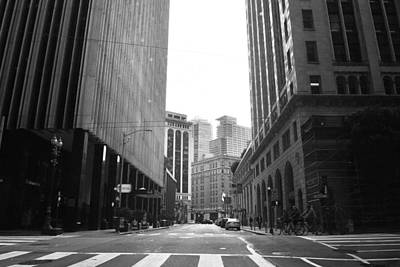Photograph - Sutter Street - San Francisco Street View Black And White  by Matt Harang