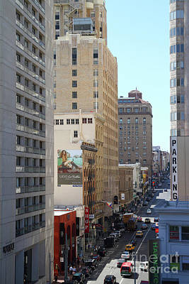 Photograph - Sutter Street West View Union Square San Francisco California 7d7506 by San Francisco Art and Photography