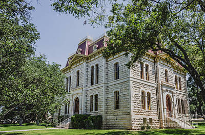 Photograph - Sutton County Courthouse - Sonora Texas by Debra Martz