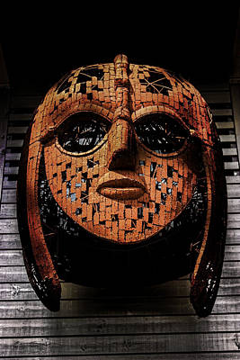 Sutton Photograph - Sutton Hoo - Saxon Mask by Martin Newman