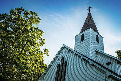 Photograph - Suttons Bay Michigan First Lutheran Church by Onyonet  Photo Studios
