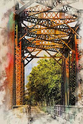 Photograph - Suwannee River Bridge  Wc by Sheri McLeroy
