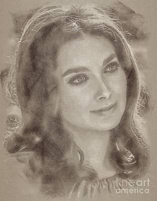 Fantasy Drawings - Suzanne Pleshette, Actress by John Springfield