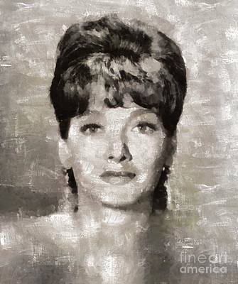 Elvis Presley Painting - Suzanne Pleshette, Actress by Mary Bassett