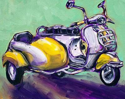 Suzie Sidecar Art Print by Sheila Tajima