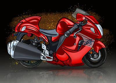 Suzuki Gsx1300r Hayabusa Red Wine Original