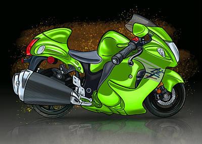 Suzuki Hayabusa Gsx1300r Lime Original
