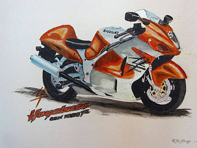 Painting - Suzuki Hayabusa by Richard Le Page