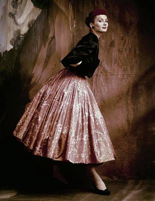 Photograph - Suzy Parker In Givenchy Full Skirt by John Rawlings