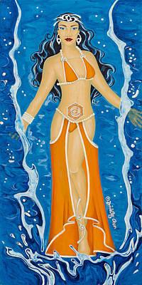 Second Chakra Painting - Svadhishthana Sacral Chakra Goddess by Divinity MonSun Chan