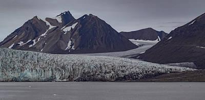 Land Of The Midnight Sun Photograph - Svalbard Esmark Glacier 1 by Mo Barton