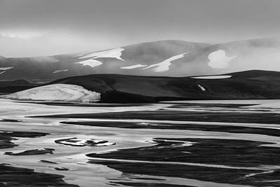 Svartikrokur Flood Plain Iceland 1474 Art Print by Bob Neiman