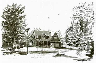 Svege Ny In Winter Art Print by Yvonne Ayoub