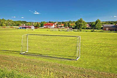 Photograph - Sveti Martin Na Muri Village And Soccer Field View by Brch Photography