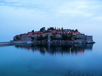 Photograph - Sveti Stefan Evening by Rae Tucker