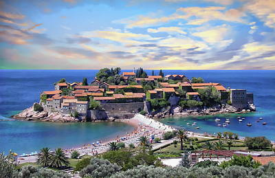 Photograph - Sveti Stefan Islet by Anthony Dezenzio