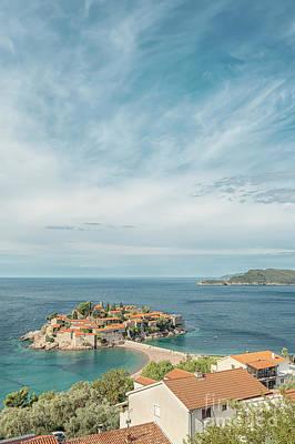 Curated Beach Towels - Sveti Stefan Montenegro by Antony McAulay