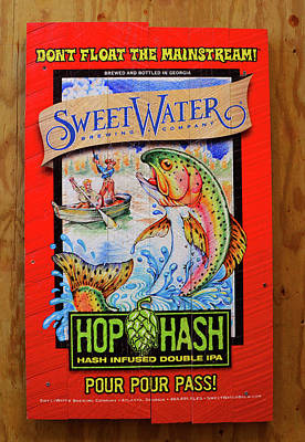 Photograph - Sweetwater Beer Sign by David Lee Thompson