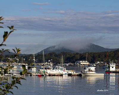 Photograph - Sw Harbor Foggy Morning by Dick Botkin