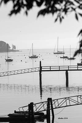 Photograph - Sw Harbor Me. Hazy Day by Dick Botkin