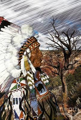 Digital Art - Sw Indian by Liane Wright