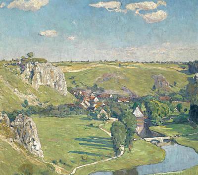 Painting - Swabian Village by Eugen Bracht
