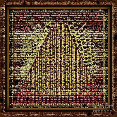 Abstract Digital Art - Swad-egypt Pyramid Style by Swedish Attitude Design