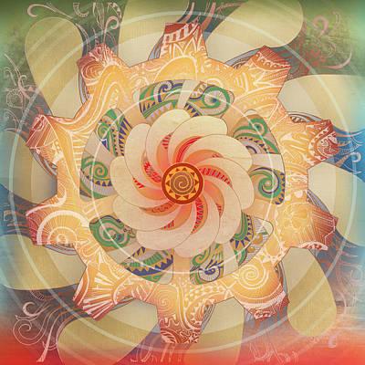 Radiating Chakra Mixed Media - Manipura by Brenda Erickson