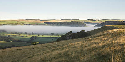Inversion Photograph - Swaledale Inversion by Chris Dale