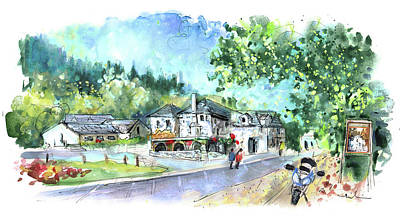 Painting - Swallow Falls Hotel In Snowdonia by Miki De Goodaboom