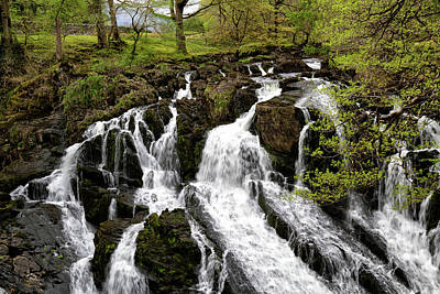 Photograph - Swallow Falls Snowdonia by Shirley Mitchell