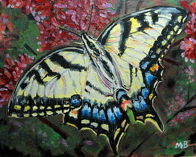 Painting - Swallow Tail Butterfly by Mike Benton