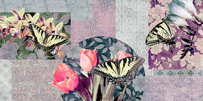 Darrell Gulin Painting - Swallowtail Butterfly 1 by JQ Licensing
