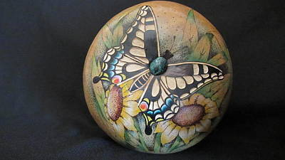Pyrography - Swallowtail Butterfly #gn32 by Barbara Prestridge