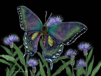 Digital Art - Swallowtail Butterfly by Joan Scarbrough