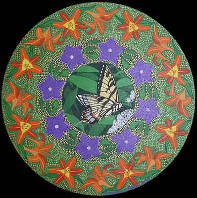 Painting - Swallowtail Mandala by Amanda Lynne