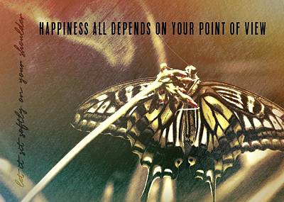 Butterfly Photograph - Swallowtail Quote by JAMART Photography