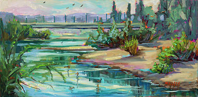 Painting - Swallowtail Riverside by Marie Massey