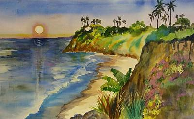 Painting - Swami's Beach by Esther Woods