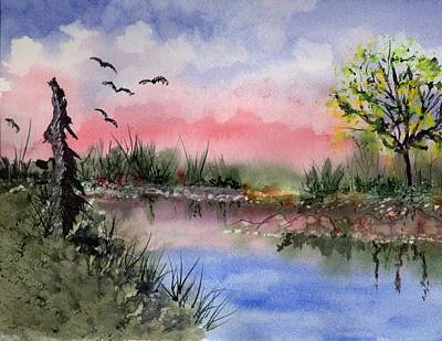 Painting - Swamp Beginnings by Connie Valasco