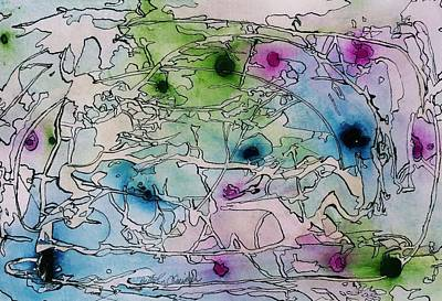 Mangrove Forest Painting - Swamp by Betty Lu Aldridge