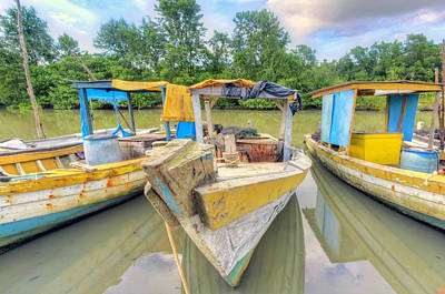 Photograph - Swamp Boats by Nadia Sanowar