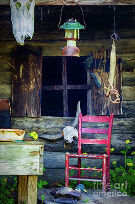 Photograph - Swamp Cabin Louisiana - Painted by Kathleen K Parker