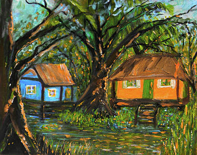 Painting - Swamp Cabins by Christy Usilton
