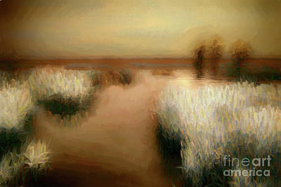 Painting - Swamp Grass And Cypress Trees Ap by Dan Carmichael