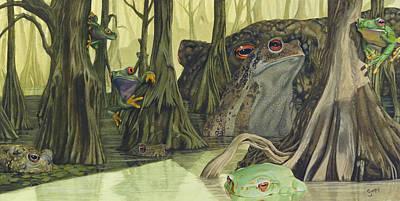 Eerie Painting - Swamp by Gregory Gopp