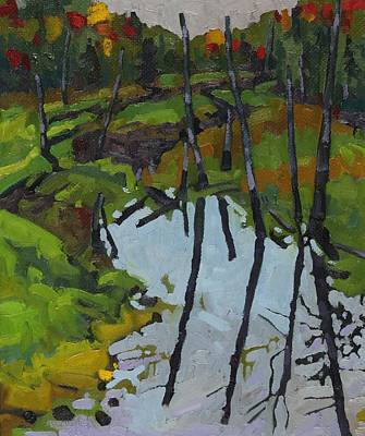 Swamp Oil Painting - Swamp Soldiers by Phil Chadwick