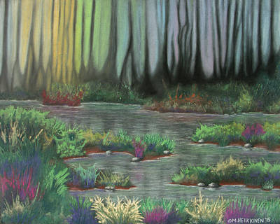 Pastel - Swamp Things 01 by Michael Heikkinen