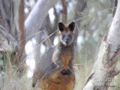 Painting - Swamp Wallaby by Chris Armytage